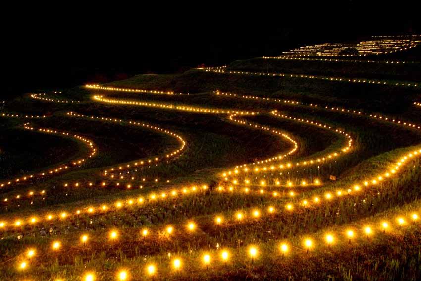 棚田の夜祭
